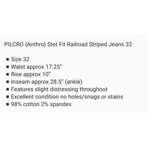 Anthropologie Pants - ANTHROPOLOGIE PANTS BY PILCRO RAILROAD STRIPE